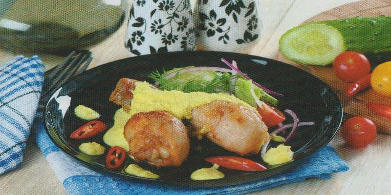 курица с кокосовым соусом