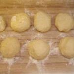 We roll balls from dough