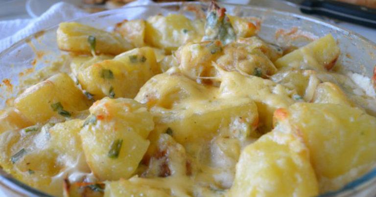 Картошка в духовке с сливками рецепт с пошагово