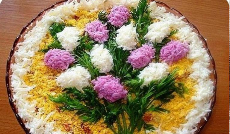 Рецепты праздничных салатов с