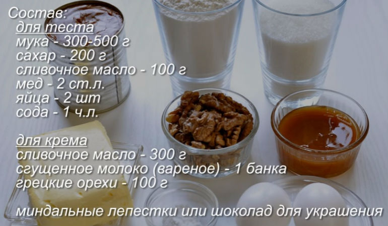 Торты с медом рецепты в домашних условиях