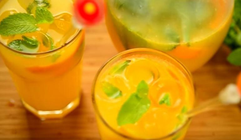 Лимонад из апельсина