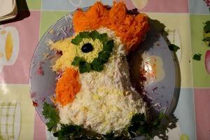 салат петушок