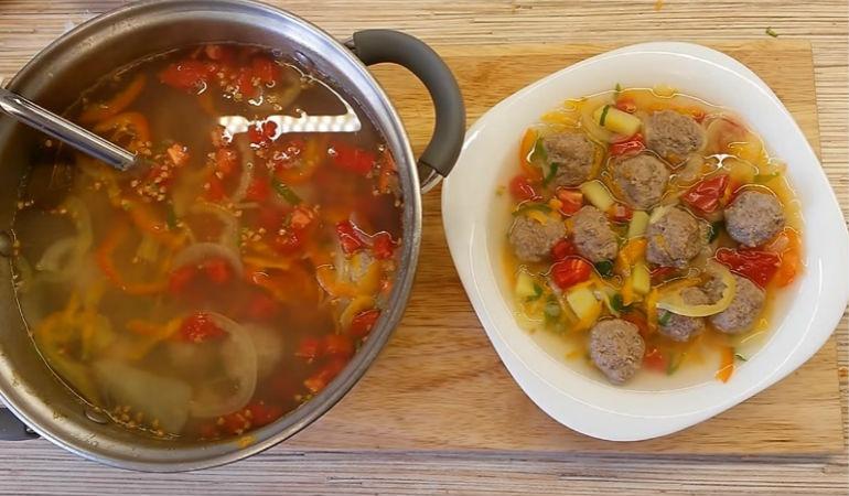 Суп фрикадельками рецепт фарша фото