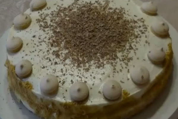Бисквитный торт по-домашнему