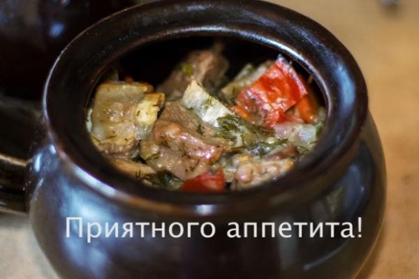 Жаркое из мяса скартошкой