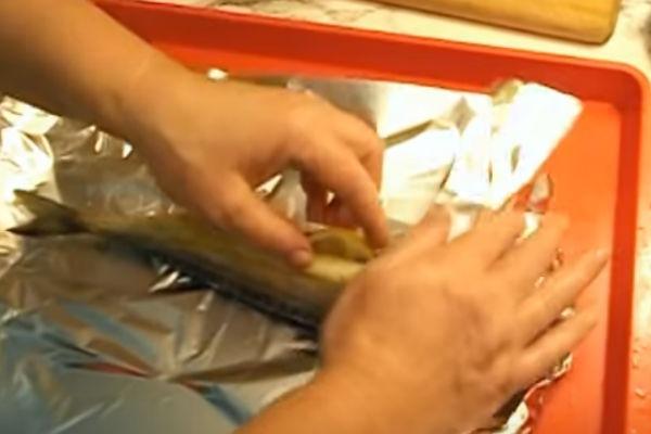 Скумбрия запеченная в фольге