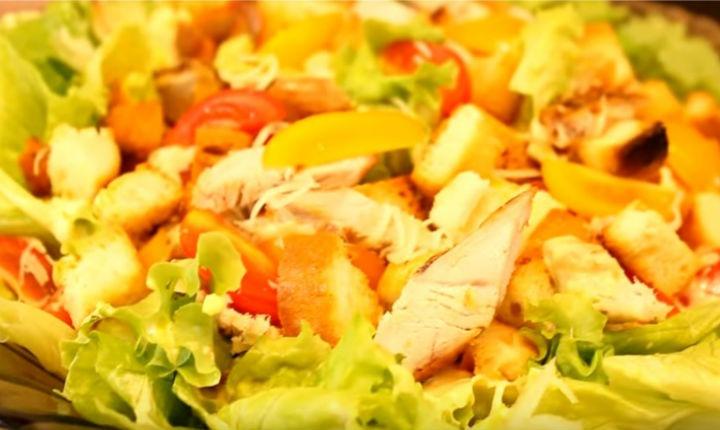 Как делать салат цезарь рецепт с
