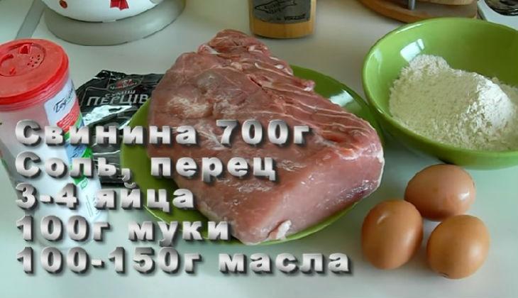 Свиные отбивные на сковороде