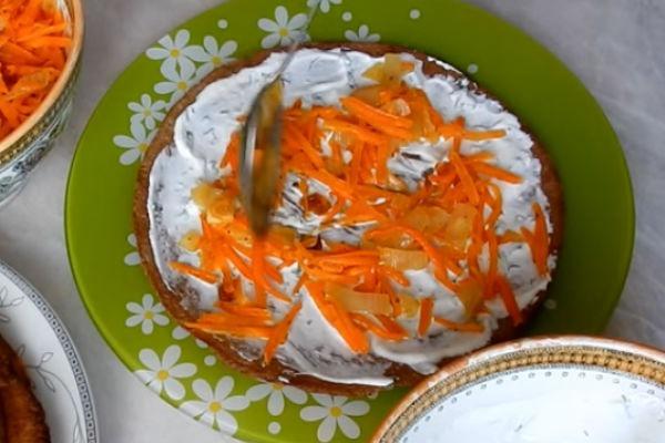 Печеночный торт с куриной печенью