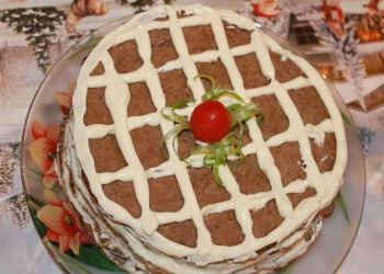 Украшение печеночного торта