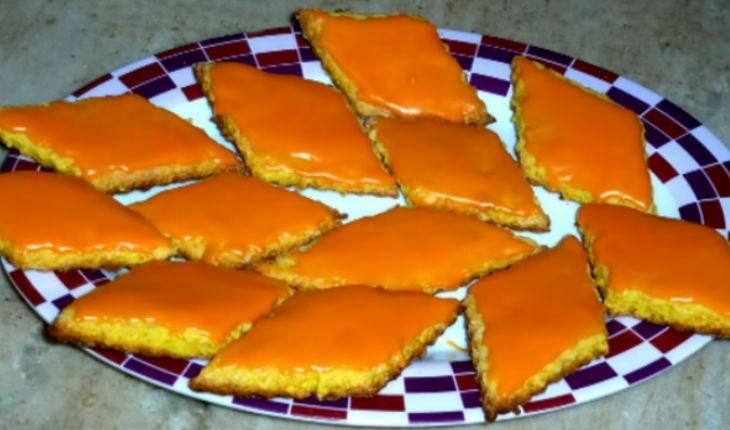 Апельсиновое печенье из творога