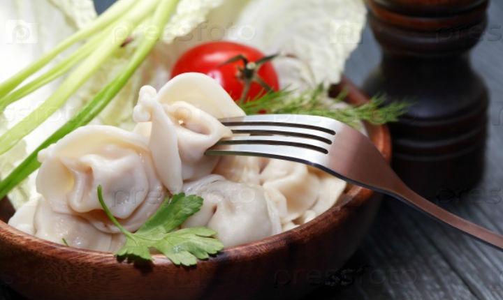 Dumplings with vegetables
