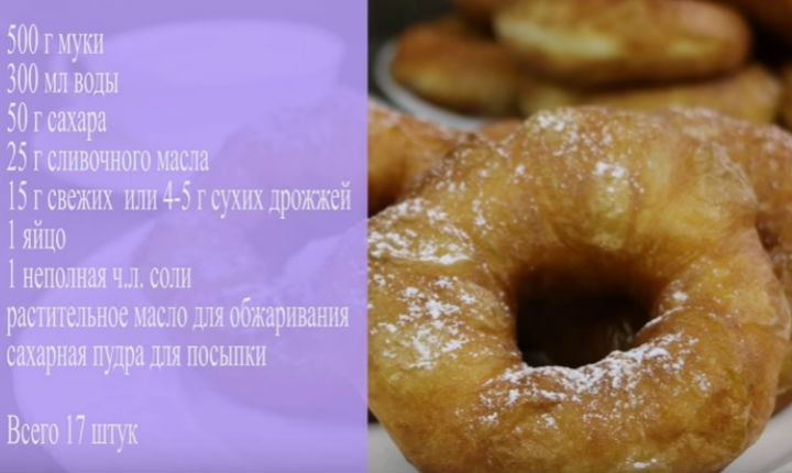 Простой рецепт пончиков с пошаговый