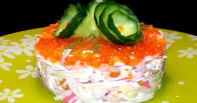 Простой и очень вкусный салат из кальмаров от А до Я