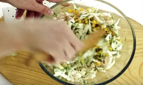 морской салат с пекинской капустой рецепт