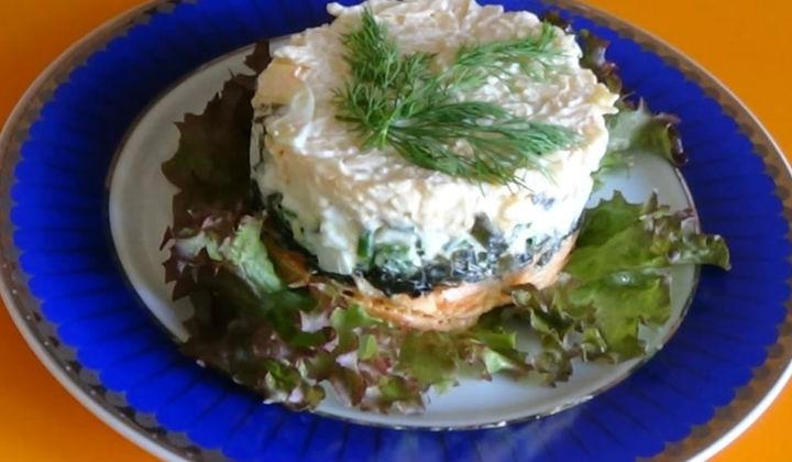 Салат из консервированной капусты