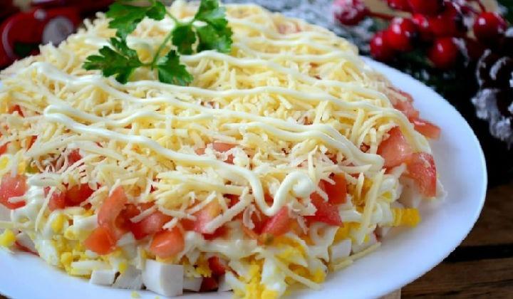 крабовый салат рецепт классический калорийность