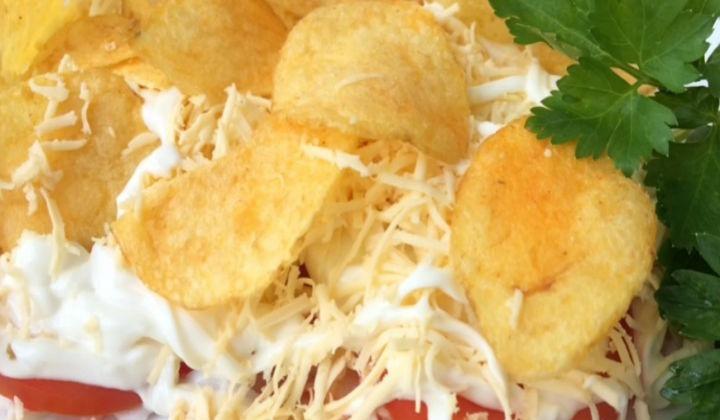 крабовый салат с рисом классический рецепт с фото
