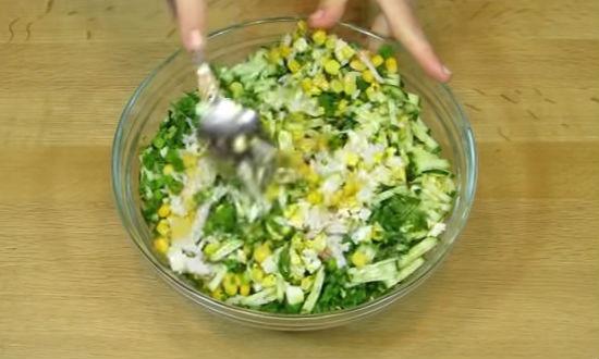 Крабовый салат рецепт классический с рисом рецепт