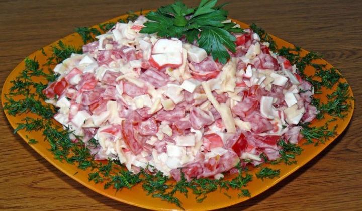 крабовый салат с рецепт классический с фото