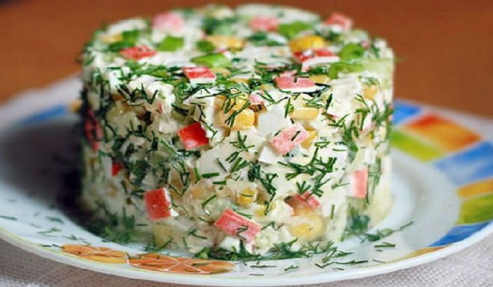 Салат из крабовых палочек с рисом 171