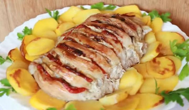 Свинина книжка в духовке пошаговый рецепт