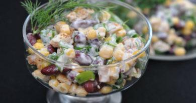 Простые и вкусные салаты с фасолью и сухариками – рецепты с фото