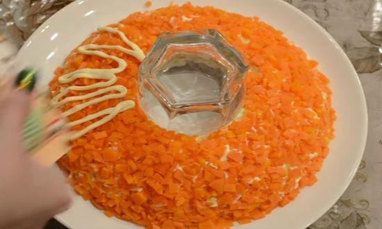 Рецепты салат ананас и гранатовый браслет