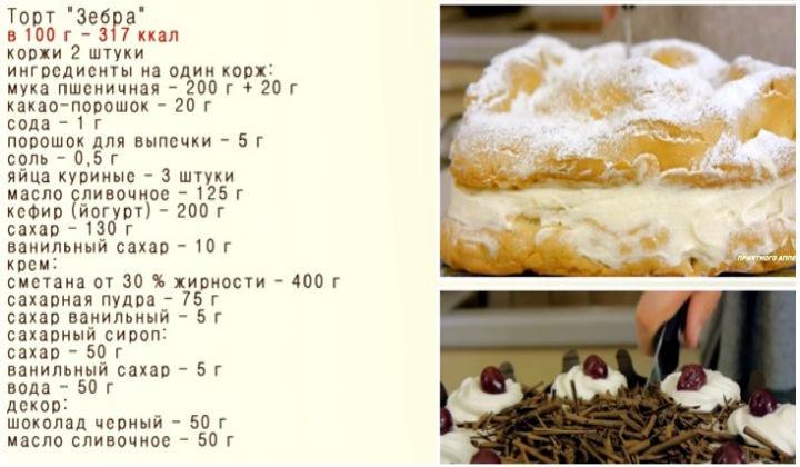 Зебра торт простой рецепт пошагово