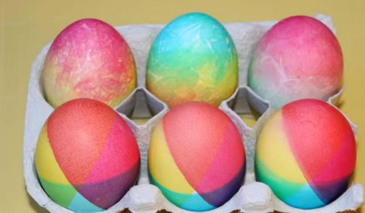 Окраска яиц в радужные цвета
