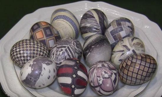 Особый способ окраски яиц на Пасху