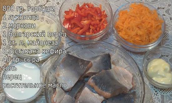 Ингредиенты приготовления