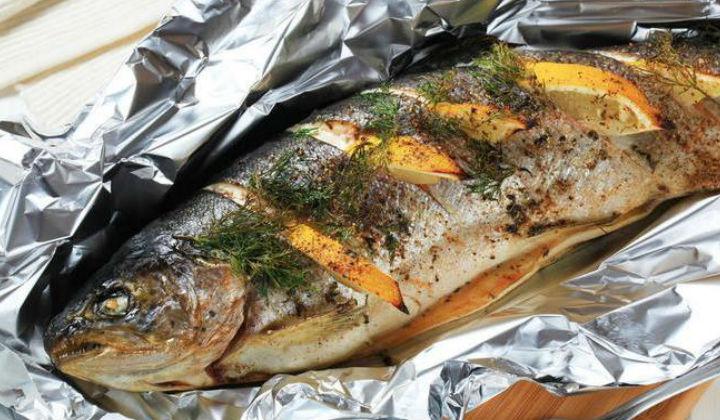 рыба запеченная в духовке с фото рецепты целиком с