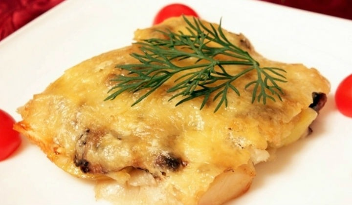 треска в духовке с помидорами и сыром рецепт