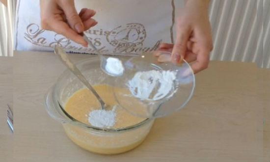 Add baking powder
