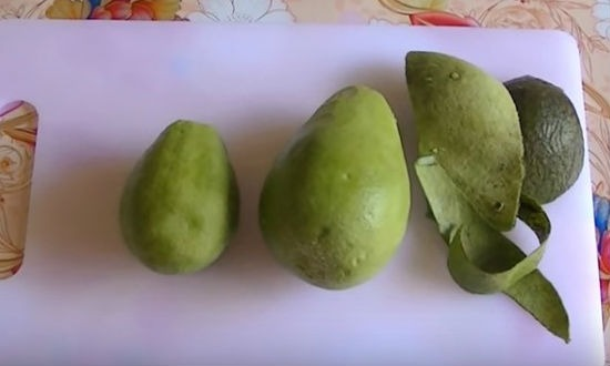 Peeled Avocado for Salad