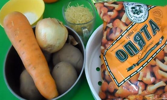 Грибной суп из опят замороженных рецепт