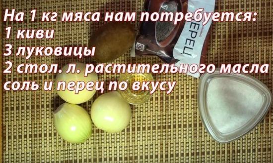 Ингредиенты маринада