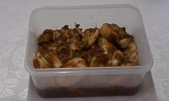 Готовое блюдо из баклажанов