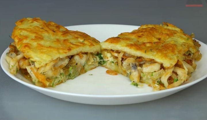Рецепт картофельных драников с курицей