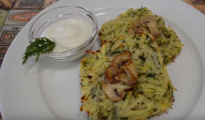 Рецепт картофельных драников с грибами