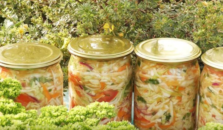 Салат на зиму из капусты лучший рецепт
