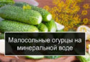 Малосольные огурцы, рецепты на минеральной воде, быстрые, вкусные, хрустящие