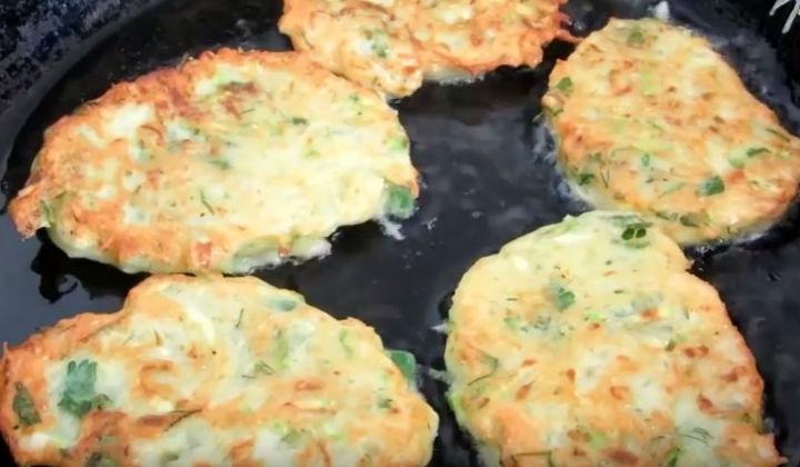 Оладьи из кабачков, рецепты с картофелем