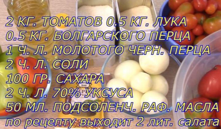 Ингредиенты для салата по-деревенски