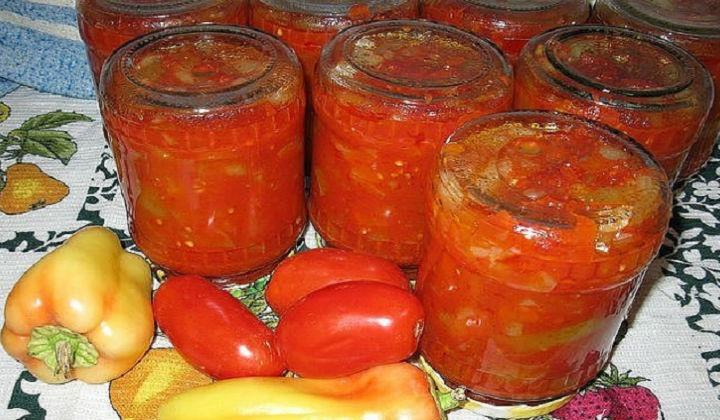 Салат из помидоров на зиму Сладкий