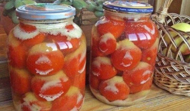 Заготовки помидоры с чесноком на зиму