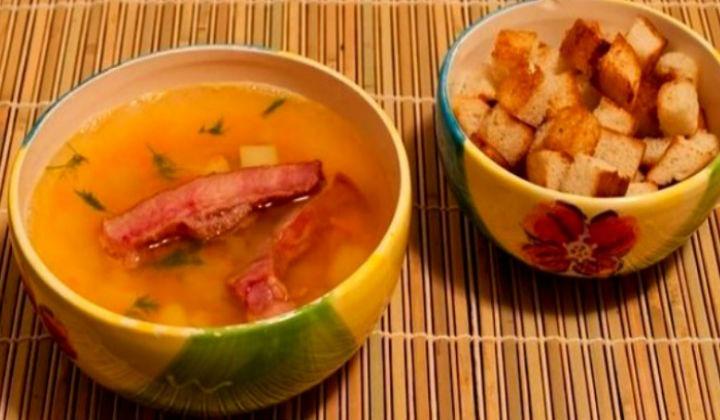рецепт горохового супа с ребрышками