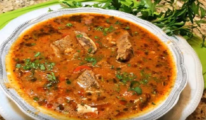 Харчо с колбасой рецепт с фото пошагово